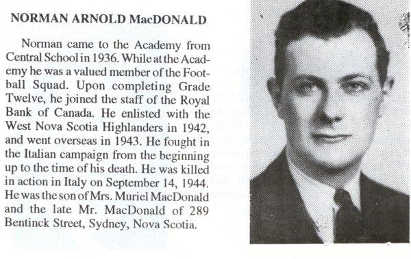 Photo of Norman Arnold MacDonald