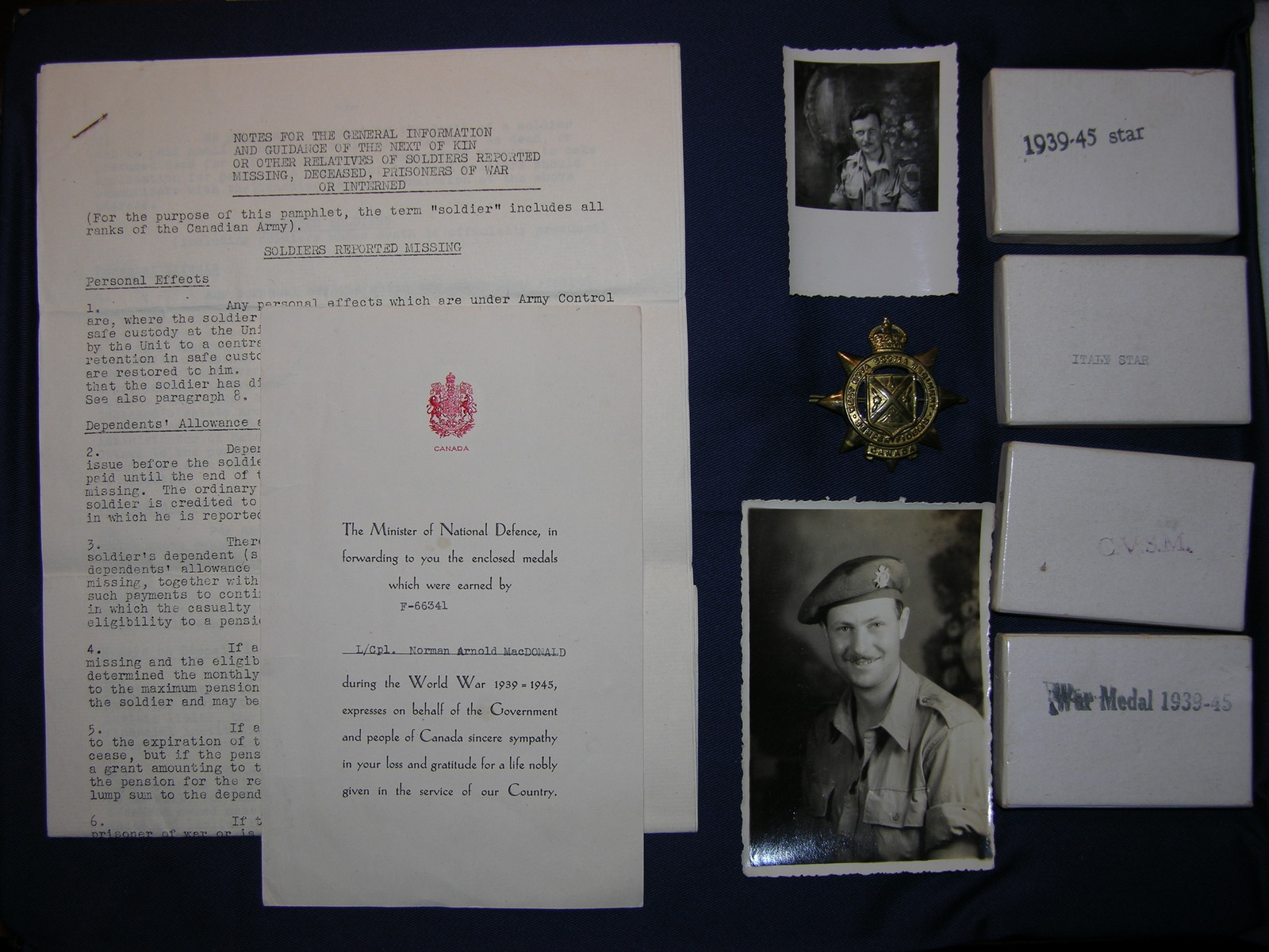 Photo of Norman Arnold MacDonald– Submitted for the project, Operation: Picture Me