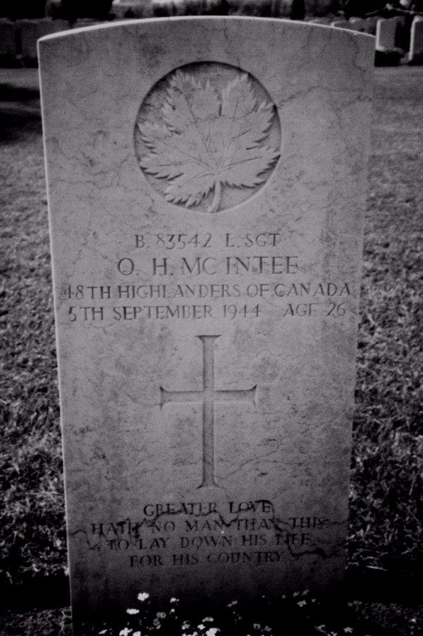 Headstone of Otto H. McIntee