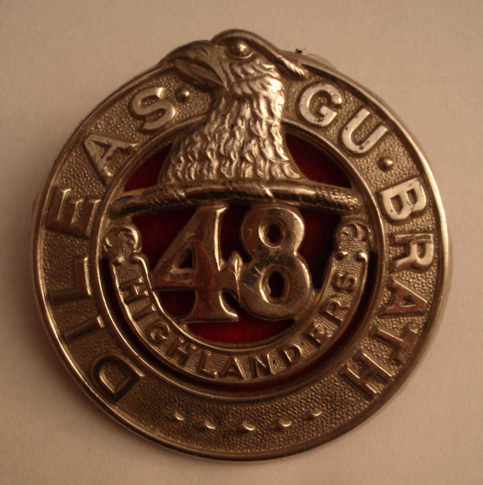 Badge– In memory of the members of the 48th Highlanders of Canada who went to war and did not come home. Submitted on behalf of the 48th Highlanders Museum, 73 Simcoe St. Toronto, ON