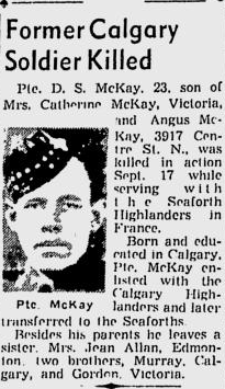 Newspaper clipping– From the Calgary Herald. Submitted of the project, Operation: Picture Me