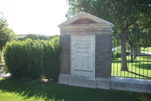 Cemetery– Entrance - Coriano Ridge War Cemetery - May 2013 ... Photo courtesy of Marg Liessens