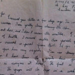 "Letter– Metro's last letter to my Father Joseph (his brother). ""The war will be over in a couple of weeks, I hope.""  Two weeks to the day, Metro was killed September 20, 1944."