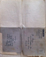 Envelope– The air mail letters are a 4-fold, this is the back addressed