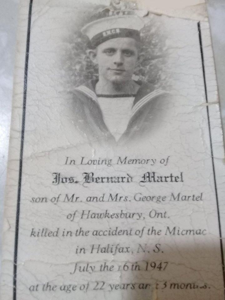 Photo of Joseph Gregoire Bernard Martel– In loving memory of my uncle Joseph Gregoire Bernard Martel