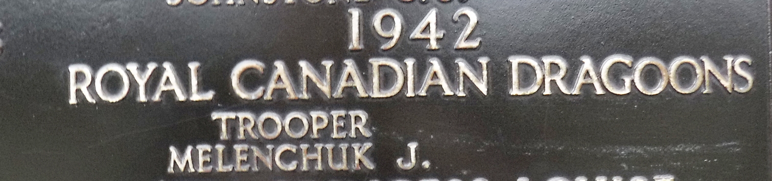 Memorial– Tpr Melenchuk is commemorated on Panel 14 on the Halifax Memorial.  Photo courtesy of Thomas Skelding