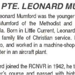 Newspaper Clipping– This obituary of Seaman Mumford appeared in the same 1994 issue of the Manitoulin Expositor as the photo in the collection.