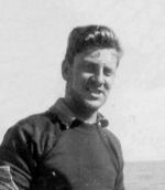 """Photo of Cliff Slingsby– Cliff Slingsby """"Slinger'  on board HMCS Columbia He was swept overboard on November 29, 1942"""