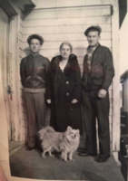 Photo of CLIFFORD FREDERICK SLINGSBY– Les, Rose and Clifford. Submitted for the project, Operation Picture Me