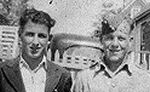 Group Photo– Winton Cook & Earl (Bud) Cook: 2nd cousins at home in East River Point, Lunenburg Co., NS