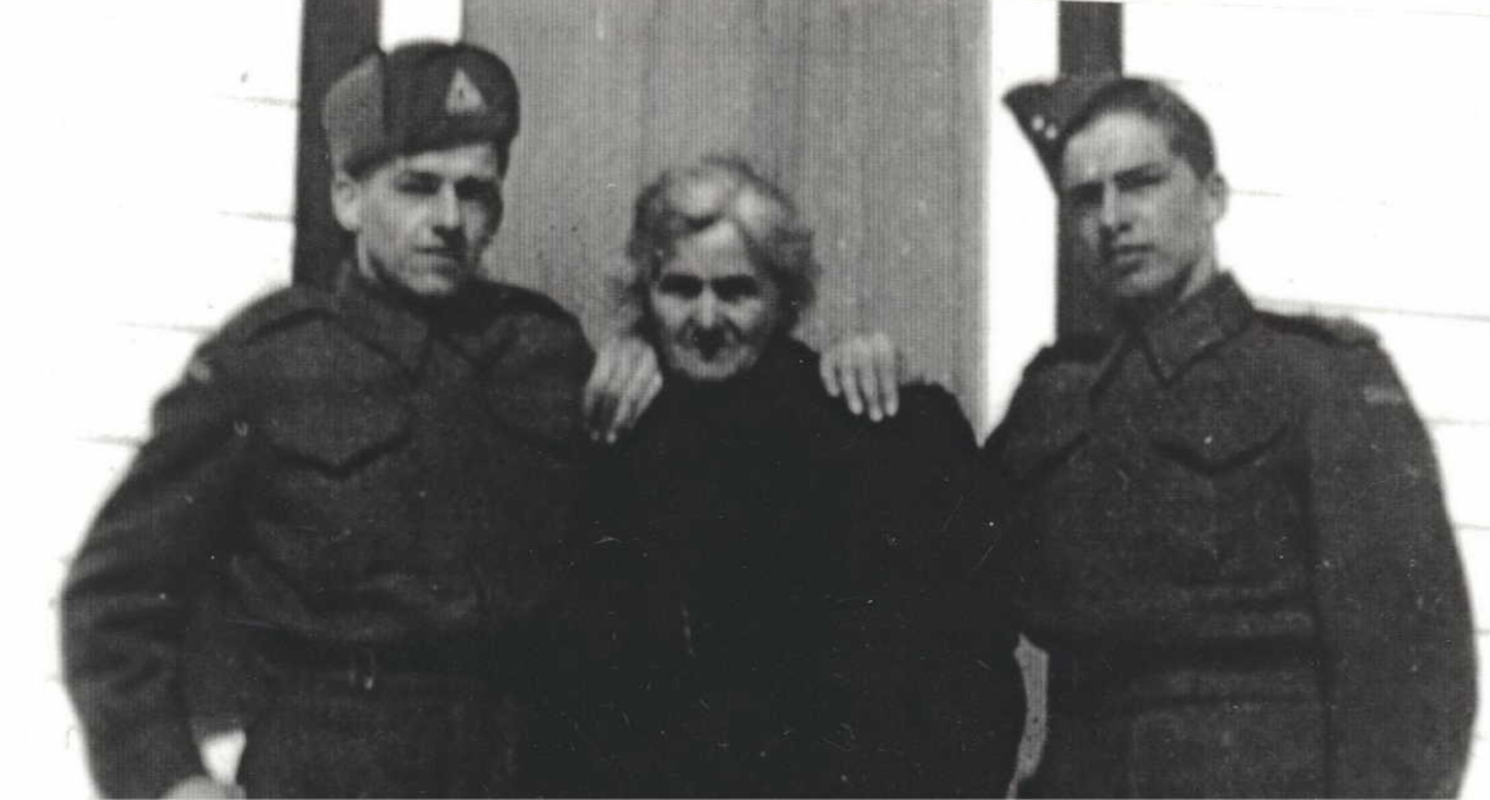 Photo of Joseph Cooke– L- R Joe, Elizabeth and Ken Cooke. Submitted for the project, Operation Picture Me