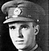 """Photo of Frederick Ernest Mullins– Submitted for the project, Operation: Picture Me. Lt. Mullins' brief life is remembered in an In Memoriam ad in the Toronto Globe and Mail of Tuesday, Sept. 29 p S-8.  Photo.  TEXT: 'They went with songs to the battle, thery were young, straight of limb. true of eye, steady and aglow. They were staunch to the against odds uncounted; They fell with their faces to the foe.'  -  """"We remember Lt. Frederick Mullins, B.Sc., U. of S., Black Watch, aged 22.  Gave his life in St. Leonard, Belgium, 29 Sept. 1944. Rests at peace at Bergen-op-Zoom. - Robert and Clarence Robinson, cousins.""""    (lines are from Laurence Binyon's 1914 For the Fallen)"""