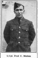 Photo of FREDERICK MUTTON– Source: The Canadian Statesman, 28 Dec 1944