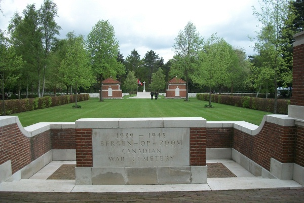 Entrance– Bergen-op-Zoom Canadian War Cemetery - May 2015 … Photo courtesy of Marg Liessens