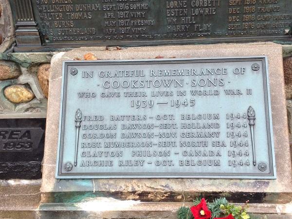 Inscription– Cookstown Cenotaph.