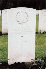 Grave Marker– Grave of Garfield Stevenson, Bergen Op Zoom Canadian War Cemetery,  Grave Reference:  4. F. 8.