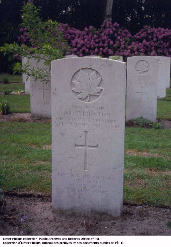 Grave marker for A.E. Thornton