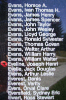 Memorial– Flight Sergeant Joseph Henry Eveline is also commemorated on the Bomber Command Memorial Wall in Nanton, AB … photo courtesy of Marg Liessens