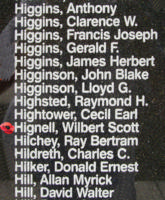 Memorial– WO II Observer Wilbert Scott Hignell is also commemorated on the Bomber Command Memorial Wall in Nanton, AB … photo courtesy of Marg Liessens