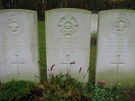 Grave Marker– Photo courtesy of Frans van Cappellen, Putten, The NetherlandsWellington BJ-589 was airborne 1820 20Dec42 from Warboys on a mission to Duisberg and shot down by a night-fighter, crash site unidentified. Those killed are buried in Jonkerbos War Cemetery at Nijmegen.P/O Jackes was the only Canadian on board.  Also killed were:  Sgt M.R.Wallis and Sgt C.Calvert.   Two other RAF aircrew survived:  F/S G.A.Proudfoot PoW Sgt J.E.Madden Injured and confined in Hospital due injuries. No PoW No.  (Source:  //lostbombers.co.uk)