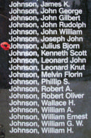 Memorial– Sergeant Julius Bjorn Johnson is also commemorated on the Bomber Command Memorial Wall in Nanton, AB … photo courtesy of Marg Liessens