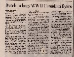 Newspaper Clipping– From the Toronto Star for 23 September 2006, page A17.