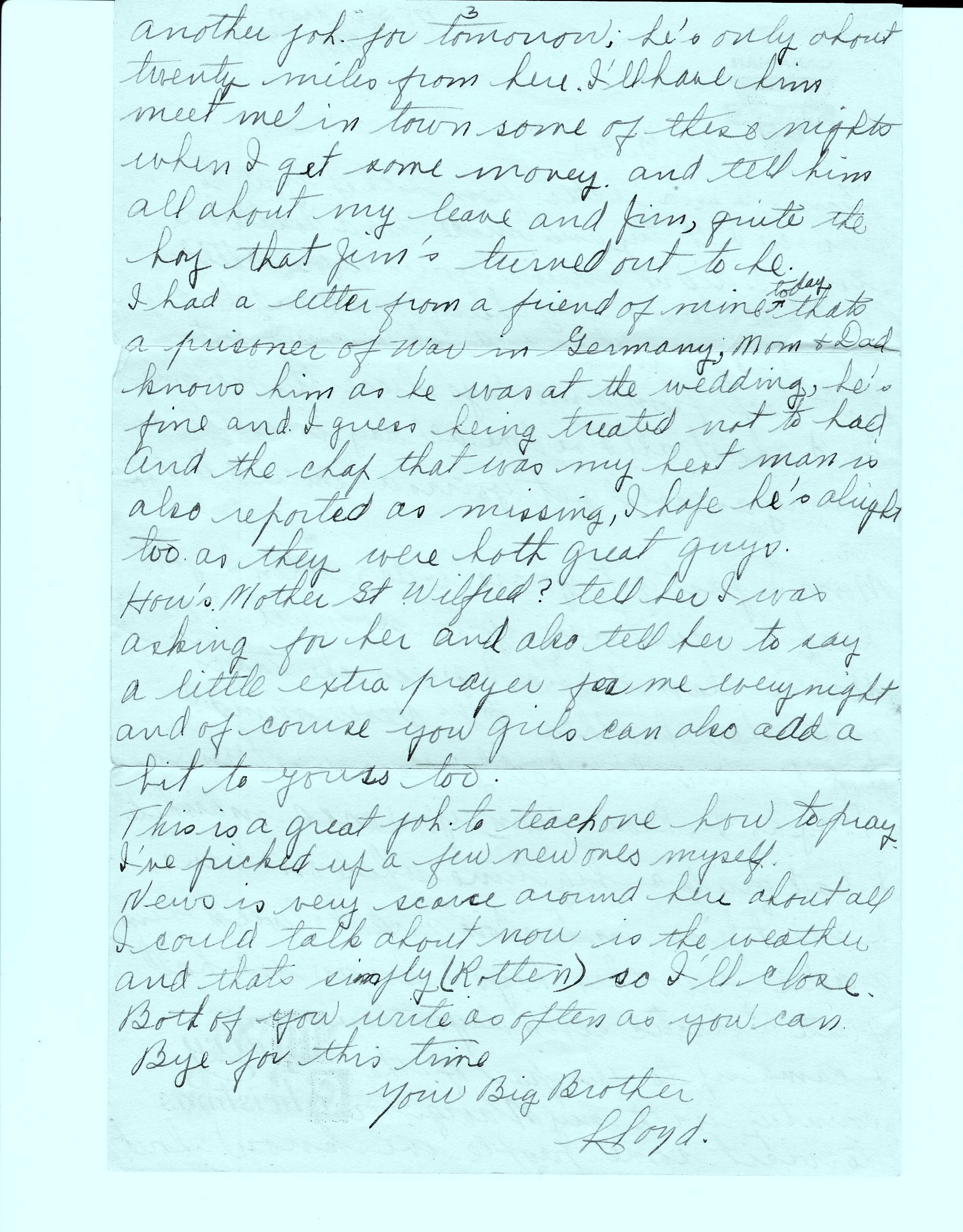letter– Last Letter Home P 3