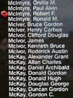 Memorial– Flight Sergeant Robert Francis McIntyre is also commemorated on the Bomber Command Memorial Wall in Nanton, AB … photo courtesy of Marg Liessens