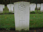 Grave Marker– Photo courtesy of Frans van Cappellen, Putten, The Netherlands Lancaster LM-465 took part in the following Key Raids: Berlin 24/25mar44; Nuremberg 30/31Mar44. Airborne 2315 12 Jun 44 from Mildenhall. Intercepted and shot down by a night-fighter, crashing 2 km SW of Meerlo in the Dutch Province of Limburg. Those killed were buried at Venlo, and subsequently re-interred in Jonkerbos War Cemetery.  They were 3 members of the RCAF:  P/O (P) C.S.Thompson, WO2 (BA) R. G. Lemky  and WO2 (N) R. McMiillan and 3 members of the RAF:  Sgt M.B.Pelham,  Sgt T.E.Stubbs, and Sgt R.S.Mobbs.  One RAF,  F/S J.M.Trend, survived and was listed as an evader. (Source:  //lostbombers.co.uk)