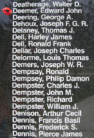 Memorial– Flying Officer Edward John Deemer is also commemorated on the Bomber Command Memorial Wall in Nanton, AB … photo courtesy of Marg Liessens