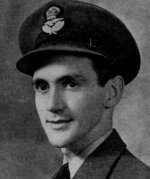 Photo of Hugh Morrow– Morrow, Hugh Francis - Flying Officer. Born 18th June, 1921, at Vancouver.  Educated at Kitsilano High School, Vancouver. Entered the service of the Bank 22nd September, 1939. Served at Kingsway & Knight Road (Vancouver) and other branches in British Columbia. Enlisted 19th August, 1941, from New Westminster in R.C.A.F. Sergeant in July, 1942; Pilot Officer in August, 1943; Flying Officer in February, 1944. Trained at Edmonton, Alta., Regina, Sask., Boundary Bay, B.C., Claresholm, Alta., and Rivers, Man. Overseas in October, 1943. Served on Halifax bombers. Killed in action 17th June, 1944. Buried in Municipal Cemetery, Gorssel, near Zutphen, Holland. From a memorial booklet prepared by the Canadian Bank of Commerce.