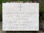 Grave Marker– Grave of C.B. Fetherstonhaugh at the Vredenhof cemetery on the isle of Schiermonnikoog ( the Netherlands)