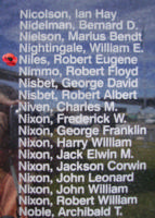 Memorial– Pilot Officer Robert Eugene Niles is also commemorated on the Bomber Command Memorial Wall in Nanton, AB … photo courtesy of Marg Liessens