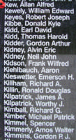 Memorial– Flight Sergeant Allan Alfred Kew is also commemorated on the Bomber Command Memorial Wall in Nanton, AB … photo courtesy of Marg Liessens