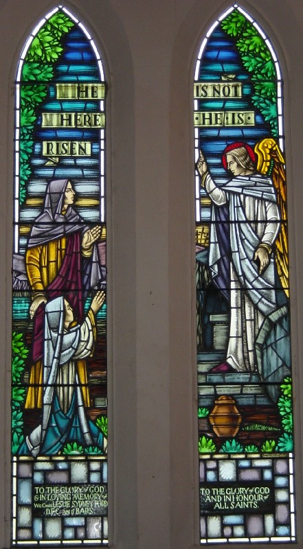 Memorial stained glass window