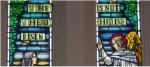 Memorial stained glass window– Photo taken by LCol Black, of a memorial stained glass window for Wing Commander Ford in Trinity Church, Liverpool, N.S.