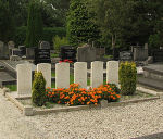 Cemetery– Air crew plot in Ten Boer (Groningen) Protestant Cemetery. (Photo courtesy of Frans van Cappellen, The Netherlands.) F/O McCracken was a member of 405 Squadron, Pathfinder Force.  Halifax HR864 was airborne 2146 25 Jul 43 from Gransden Lodge. Outbound, the aircraft was shot down by a night-fighter crashing at Ten Boer (Groningen) 12 km NE of Groningen, Holland.  The crew are:  F/O M. E. Tomczak; Sgt A. J. Wood RAF; F/O A. P. McCracken;  Sgt C. J. V. Kettley;  Sgt E. K. White; F/S M. S. Smyth; F/O A.J.Sochowski was interned in Camp L3, PoW No.1649.  (Source:  www.lostbombers.co.uk)