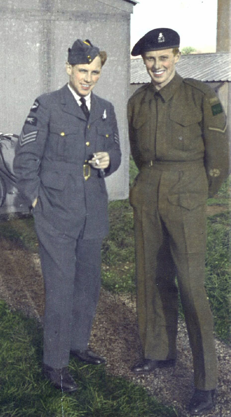 Group Photo– Clifford with his brother Percy who was with 5 Canadian Motorcycle Regiment in  Italy and Germany.