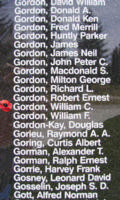 Memorial– Flying Officer William Campbell Gordon is also commemorated on the Bomber Command Memorial Wall in Nanton, AB … photo courtesy of Marg Liessens