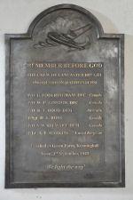 Memorial– Memorial to crew of Lancaster Flt JA915 at St Mary's Church Kenninghall, Norfolk, UK. Dedicated 20th September 2009. Photo by Richard E Flagg.