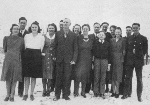 Photo of Albert Clayton Law and family– Albert Law with parents and siblings c.1942 at Darlingford, Manitoba.