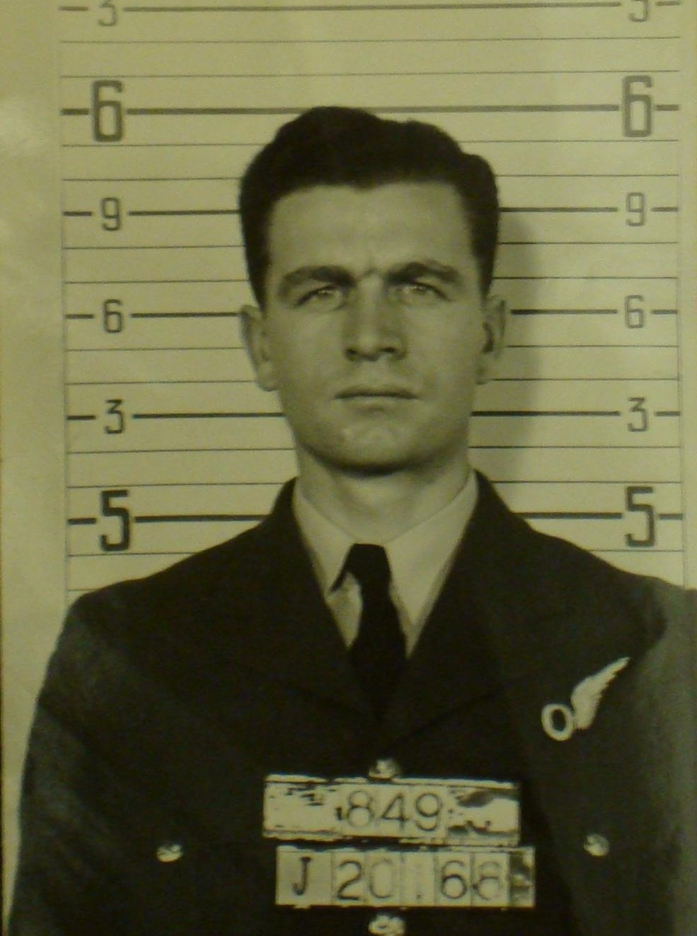 Photo of Albert Clayton Law– From RCAF service file