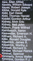 Memorial– Flight Sergeant Amos Walter Kimmerly is also commemorated on the Bomber Command Memorial Wall in Nanton, AB … photo courtesy of Marg Liessens