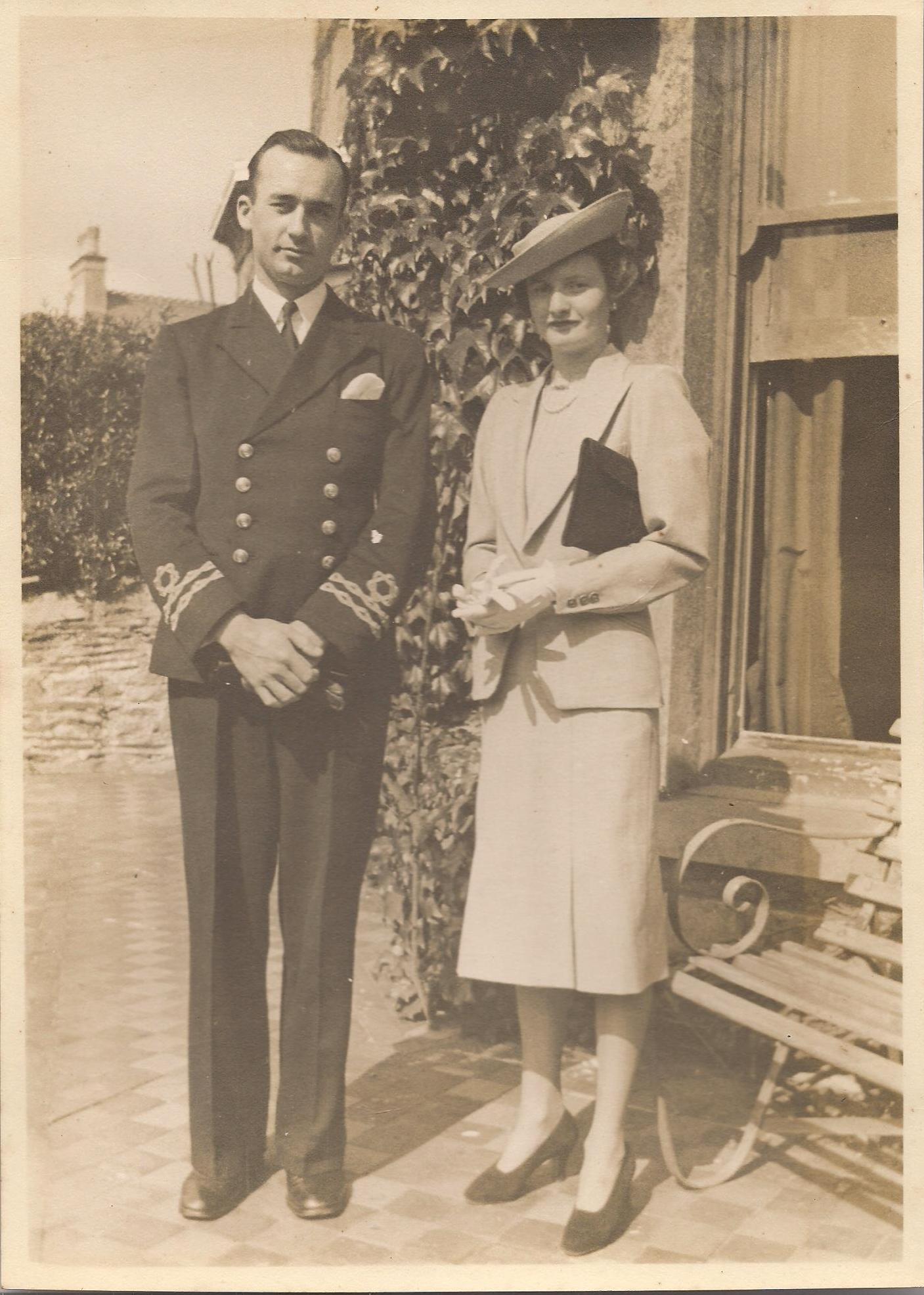 Group Photo– Lieutenant Daniel Edward Treymain Newell with his wife Margaret Yvonne Newell.