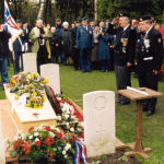 Final Salute– Private Victor Garton Howey was laid to rest on November 10, 2000 with full military honours at Bergen-op-zoom cemetery in the Netherlands, about 50 kilometres from where he was last seen alive.