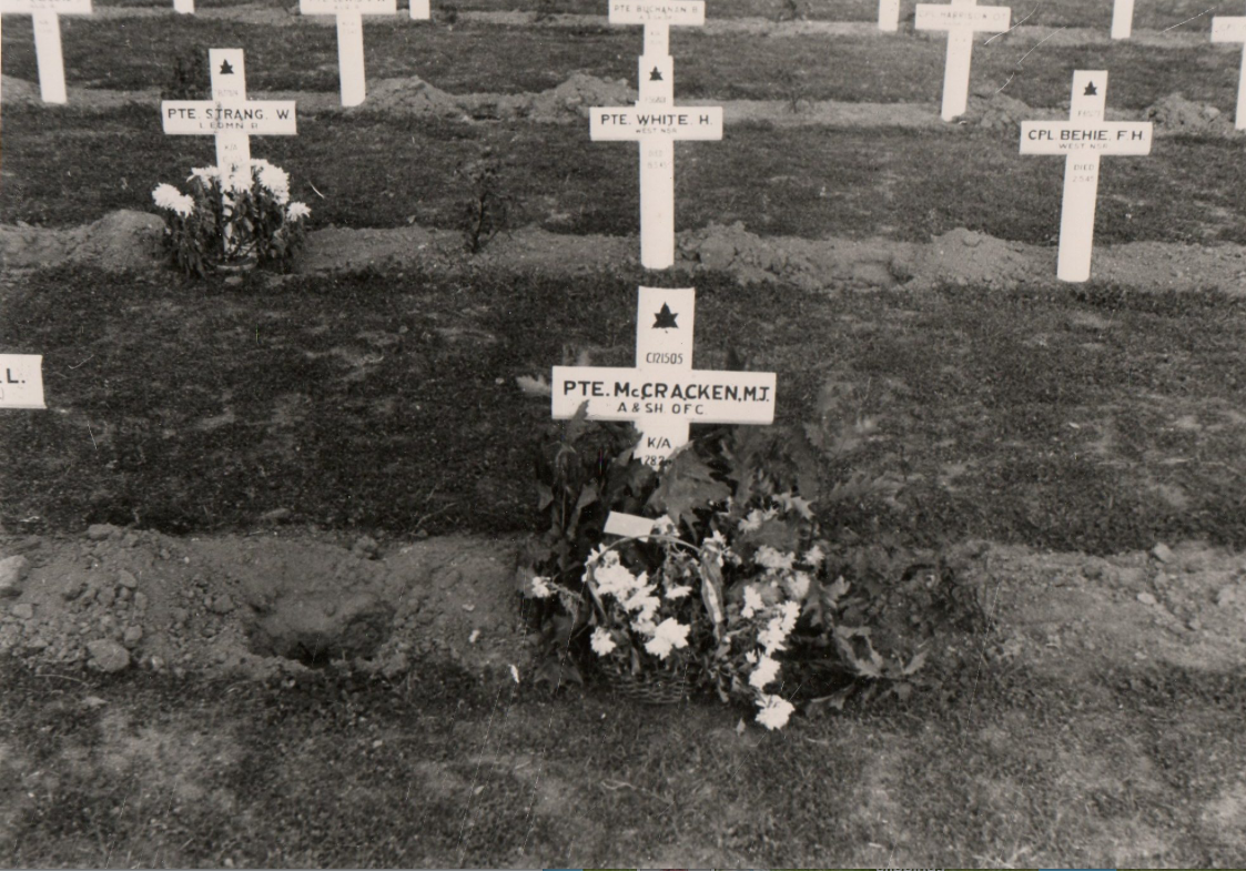 Grave marker– 2nd row right. Submitted for the project Operation Picture Me