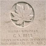 Grave Marker– This photo of Rfn Bell's gravemarker was taken in June 2003.