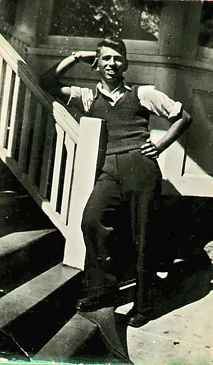Photo of Zave Brown– 18 years old.
