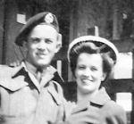 Photo of Leonard and Doris Cormier– Leonard & sister Doris 1942, train station in Port Elgin,N.B.