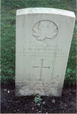 Gravemarker– Grave of Pvt. L-106938 Kenneth W. Courtenay South Sask. Regt.  KIA Jan. 12th 1945.